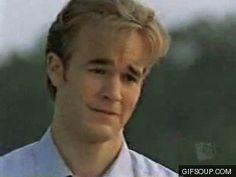 Reaction GIF: crying, James Van Der Beek, Dawson Leery, Dawson's Creek