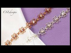 Wirework wedding bracelet - YouTube