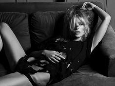 Kate Moss in supersexy in HEDI SLIMANE FASHION DIARY
