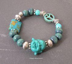 Armbänder - Glücksarmband Buddha Armband - ein Designerstück von Happy-about-pearls bei DaWanda