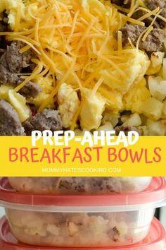 Get ready for a freezer friendly breakfast idea with these Make Ahead Breakfast Bowls! These are perfect to make earlier in the week and save for later to warm up and serve. These combine Potatoes O'Brien, eggs, sausage, and cheese! Frozen Breakfast, Sausage Breakfast, Breakfast Bowls, Breakfast Ideas With Eggs, Breakfast To Go, Figs Breakfast, Camping Breakfast, Mexican Breakfast, Breakfast Potatoes
