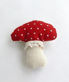 Red Mushroom Brooch  9$