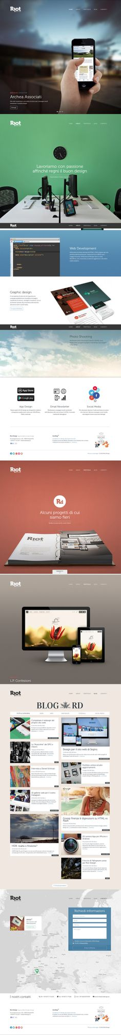 Winner 23 September Riot Design by Riot design #webdesign #design