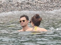 #JamieDornan and #DakotaJohnson 7/12/16 #FiftyShadesFreed Beach Club Scenes   Via: EJD   © LOOK PRESS AGENCY