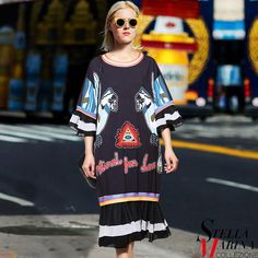 Made with ❤️ New European Fashion Dress Women Spring Large Size Black Printed Dress Half Sleeves Animal Letters Print Midi Trumpet Dress 2271  http://www.shortthickandcurvy.com/products/new-european-fashion-dress-women-spring-large-size-black-printed-dress-half-sleeves-animal-letters-print-midi-trumpet-dress-2271?utm_campaign=crowdfire&utm_content=crowdfire&utm_medium=social&utm_source=pinterest