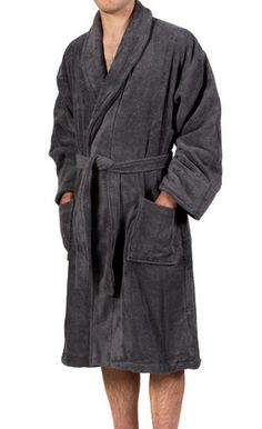 0847e6041f High Quality Custom Made Grey Men Cotton Bathrobe