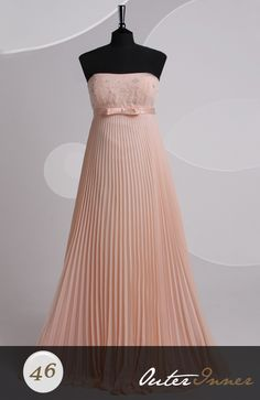 Sweep/ Brush Train A-line Strapless Sleeveless Prom Dresses Style Code: 06623