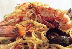 Linguine with Mixed Seafood from Leite's Culinaria