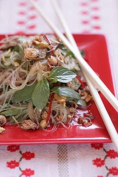 Vietnamese beef and glass noodle salad.