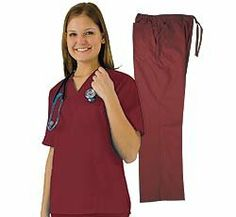 Women's Scrub Set (Assorted Colors, XS-3X) Medical Scrub Top and Pant, (scrubs, scrub sets, medical uniforms, sleepwear, loungewear)