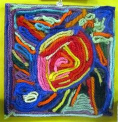 Check out student artwork posted to Artsonia from the 3rd-Huichol Indian Sun Yarn Painting project gallery at St. Louis Catholic School.