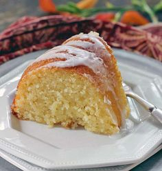 Glazed Lemon Ricotta Cake is made in a bundt pan.  It's extremely moist and tender thanks to the ricotta cheese in the batter.