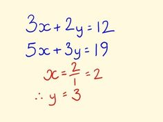 This trick solves simultaneous equations fast, without all the multiplying of equations usually used. To support free math by tecmath onPatreon (thankyou): h. Math For Kids, Fun Math, Mathematics Geometry, Gcse Math, Maths Solutions, Math Graphic Organizers, Math Word Problems, 8th Grade Math, Math Help