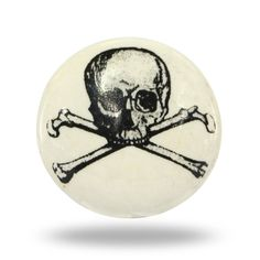 Black and White Skull and Crossbones Decorative by TrincaFerro