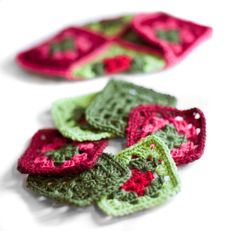 Granny squares soon to be a slipper