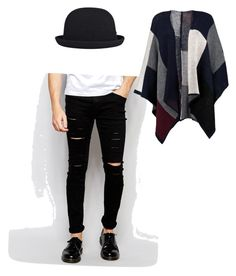 """Outfit dramático masculino"" by maria-jose-aramburu-argandar on Polyvore featuring Cheap Monday, kangol, men's fashion y menswear"