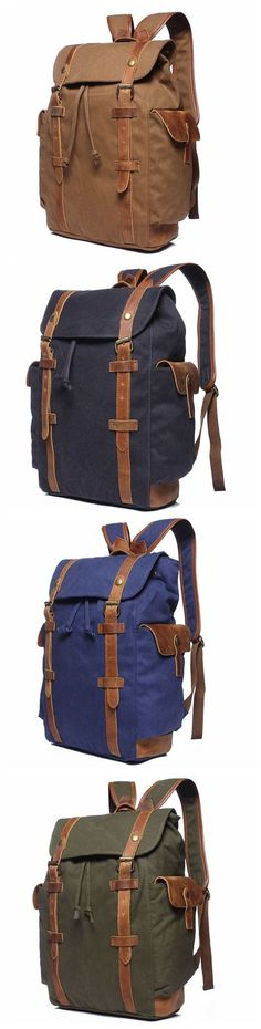 School Backpack for Teens, Leather Backpack, Canvas Backpack, Rucksack