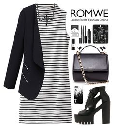 """Romwe 2"" by scarlett-morwenna ❤ liked on Polyvore featuring Givenchy, Topshop, Stila, Eight & Bob and H&M"