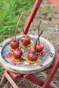 Pecan-Coated Caramel Apples