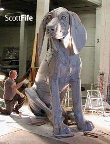 Cardboard Sculptures by Scott Fife