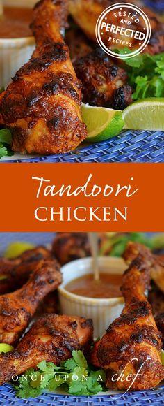 Crispy Tandoori Chicken Drumsticks with Mango Chutney - Once Upon a Chef