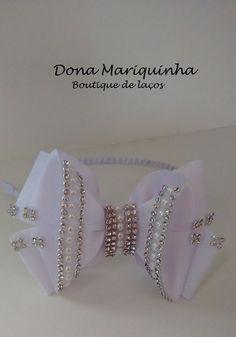 Tiara Branca Luxo cod.37 Almofada Em Forma De Flor 01c967414be