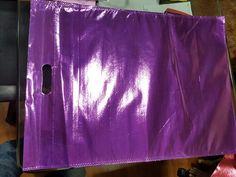 Metallic purple D-cut bag