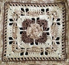 Ravelry: Project Gallery for Butterfly Garden Square pattern by Chris Simon Ravelry: Projec. Crochet Granny Square Afghan, Crochet Blocks, Granny Square Crochet Pattern, Afghan Crochet Patterns, Crochet Motif, Crochet Designs, Crochet Stitches, Granny Squares, Square Blanket