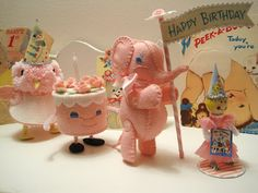 Birthday Parade Felt Patterns.  I will make this for grandchildren just because it is so vintagey adorable