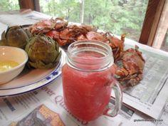 Frozen Watermelon Margaritas [from GlutenFreeEasily.com]