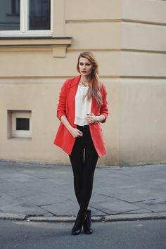 † Mademoiselle Kate †: Orange coat.