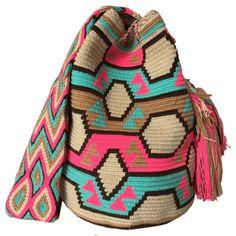 LARGE Mochila Wayuu Bag made in the desert of La Guajira, Colombia | RETAIL + WHOLESALE | Handmade and Fair Trade Wayuu Mochila Bags LOMBIA & CO. |www.LombiaAndCo.com