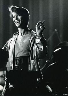 David Bowie on tour, 1978.