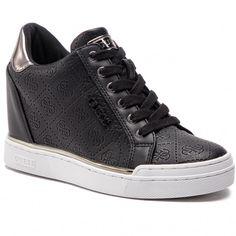 67a7d503c5c4 Sneakersy GUESS - Flowurs FL5FWU FAL12 BLACK - Sneakersy - Poltopánky -  Dámske - www.