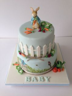 Peter Rabbit Baby Shower Cake
