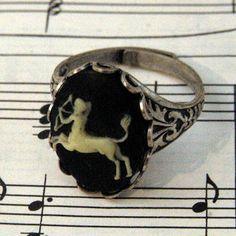 Sagittarius cameo ring