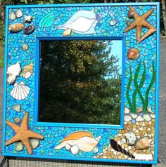 Seaside Mosaic Mirror by MosaicMoonStudio on Etsy, $250.00