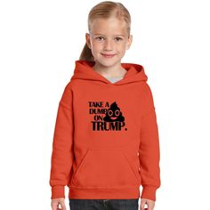 Take A Dump On Trump Kids Hoodie