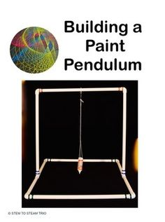 This product gives step by step directions for building a pendulum from plastic pipe.  The pendulum is used for creating fantastic works of art while integrating science and math (STEAM).  Following these directions must be done by someone who has the tools and expertise to safely cut, drill, and glue plastic PVC pipe.