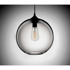 Edison Industrial Solitaire Modern Pendant Light - Clear