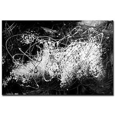 """Is Black Peter Dranitsin   ... Together"""" acrylic black and white abstract painting by Peter Dranitsin"""