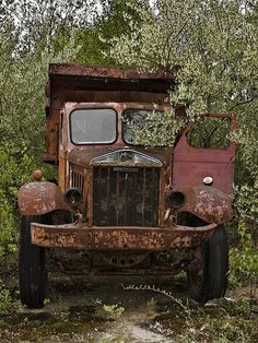 Aged rusty beauty A Sterling memory, abandoned old truck