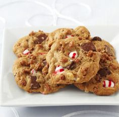 Chocolate Chunk Peppermint Crunch Cookies