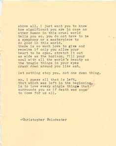 The Universe and Her and I poem 224  by Christopherspoetry on Etsy, $10.00