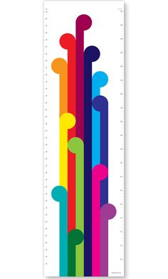 Growth Chart / Height Chart for the stylish kids room. Bright and fun rainbow decor for the nursery. Modern height charts that won't date Christmas Presents For Kids, Christmas Ideas, Maori Patterns, Bright Nursery, Maori Designs, Modern Nursery Decor, Nz Art, Rainbow Decorations, Cool Mom Picks