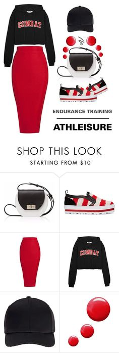 """""""Endurance Training - Athleisure"""" by latoyacl ❤ liked on Polyvore featuring Joanna Maxham, MSGM, Miss Selfridge and Topshop"""