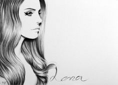Lana del Rey Pencil Drawing Fine Art Portrait Print Hand Signed