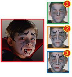 Snazaroo™ Face Painting: Dracula. Find face paints for Halloween at Hobbycraft http://www.hobbycraft.co.uk/celebration/halloween #facepainting #halloween