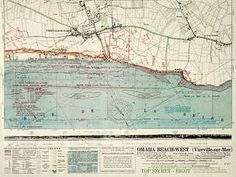 Omaha beach - D-Day map
