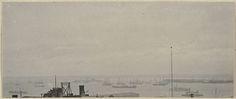 William J. Mullins | Gezicht op schepen voor de kust in de Verenigde Staten, William J. Mullins, c. 1900 - 1917 |